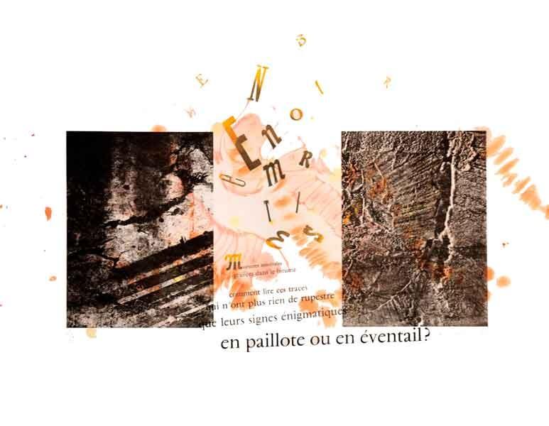 Morsures minérales, Marie-Louise Bréhant -II- lithographie