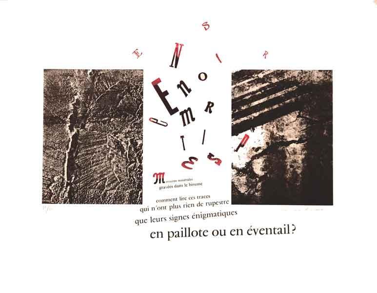 Morsures minérales, Marie-Louise Bréhant -III- lithographie