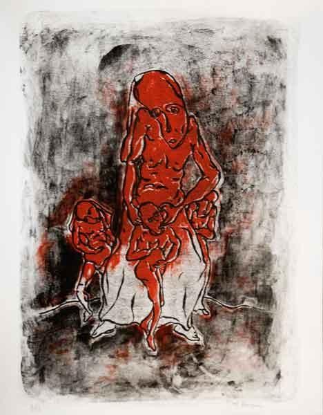 Crépuscule du mal, Marcel Hasquin -II- lithographie