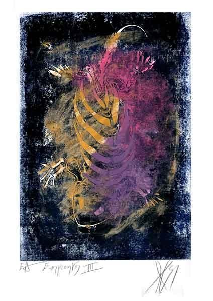 Empreintes I, linogravure de Serg Gicquel